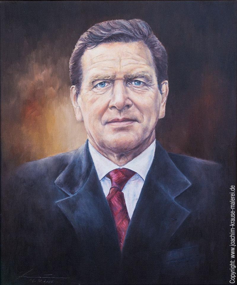 Portrait Bundeskanzler a.D. Gerhard Schröder