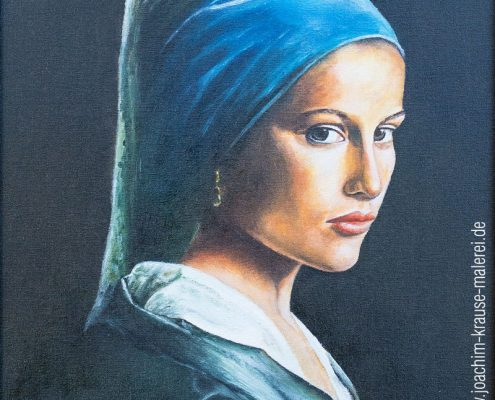 Orientalin mit blauem Tuch