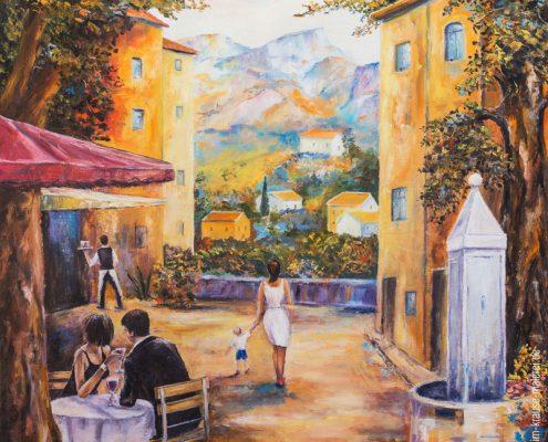 Italienischer Marktplatz