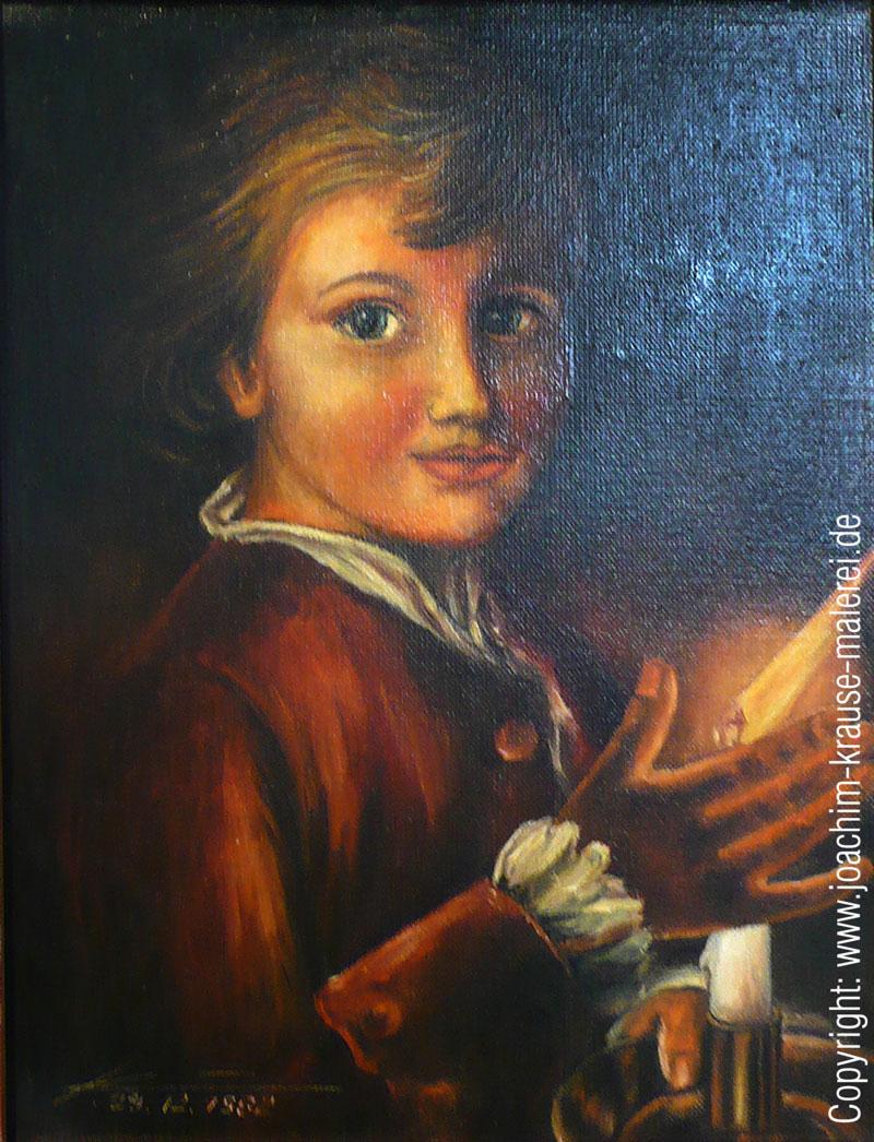 Junge im Kerzenschein