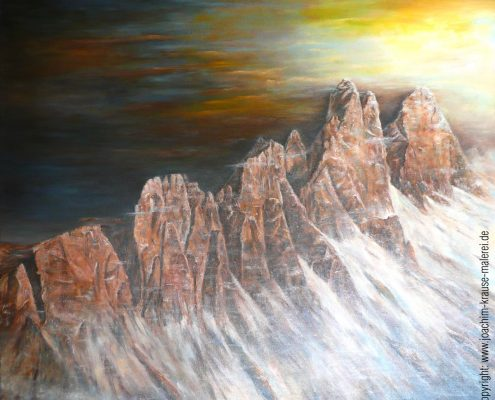 Bergwand Dolomiten