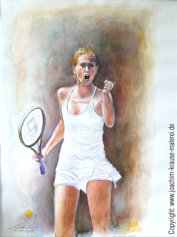 Anna Sharapova in Siegerpose