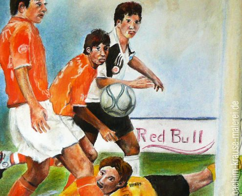 Fußball-Torszene