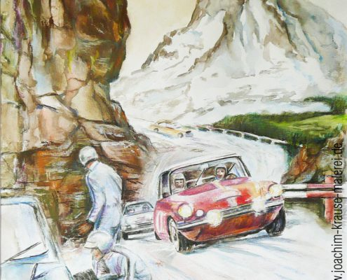 Oldtimer-Rennen in den Bergen