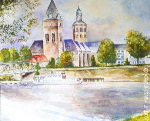 Weser und Münsterkirche Hameln