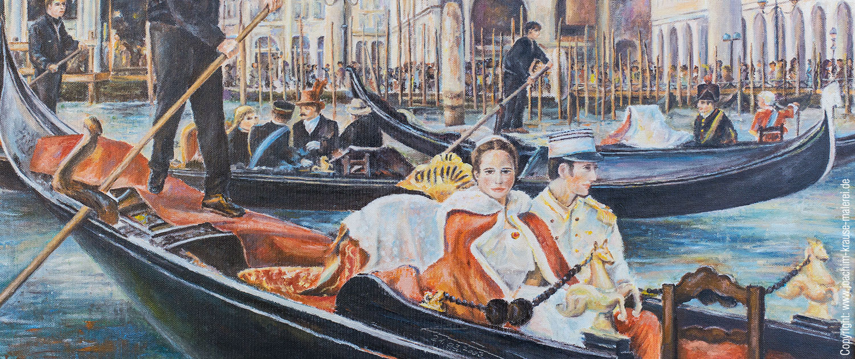 Gondelfahrt in Venedig - Ausschnitt